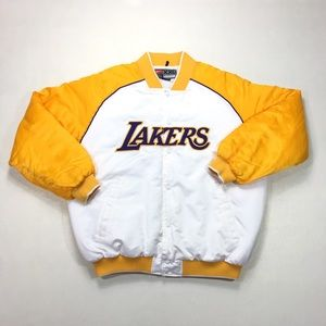 Vintage Nike Los Angeles Lakers Snap Satin Jacket